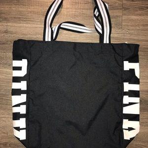 PINK Victoria's Secret Bags - PINK Victoria's Secret black/white canvas tote.